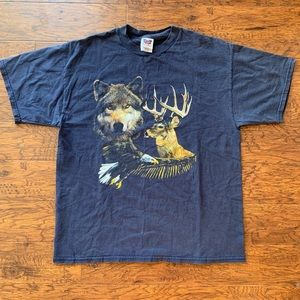 Vintage 90's Wolf/Nature T Shirt